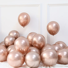 20 pçs 5/10/12 Polegada ouro rosa champanhe ouro cromo balões metal cromado globos festa de aniversário decorações do casamento chá de fraldas