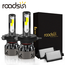 Roadsun H4 LED H7 سيارة العلوي رقائق البوليفيين البسيطة حجم H11 LED H1 9005 HB3 9006 HB4 10000LM 60W 6000K مصباح تلقائي سيارة التصميم 12V