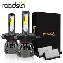 Roadsun luces LED para faro delantero de coche, Chips COB, tamaño Mini, H11, H1, 9005, HB3, 9006, HB4, 10000LM, 60W, 6000K, Estilismo, 12V