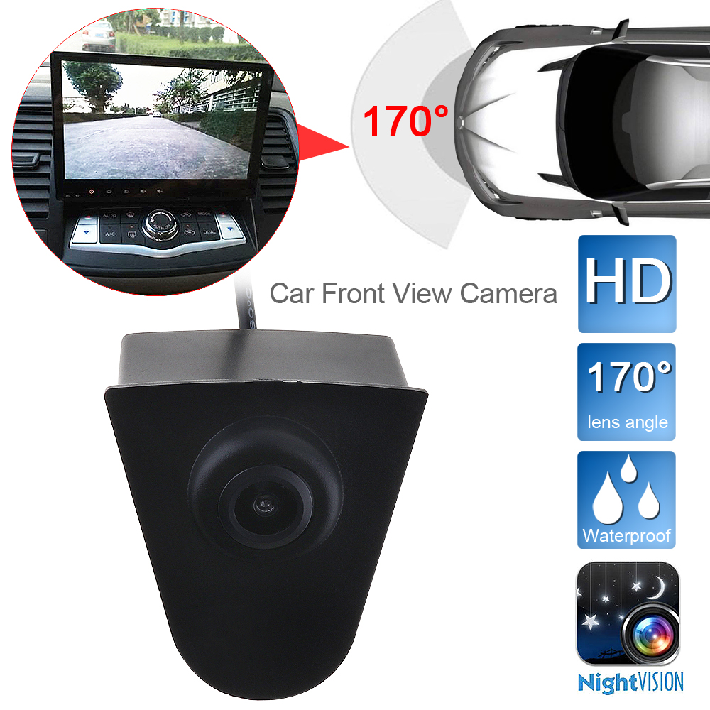 CCD Car Front Logo Camera For Accord CRV Odyssey XR-V Crosstour Fit City CIVIC Positive Image Camera Parking Assistance