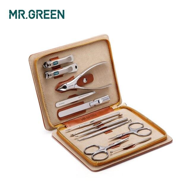 MR.GREEN Juego de manicura 12 en 1 de acero inoxidable, utilidad para cutículas, juego de herramientas para la manicura, cortauñas, Juego de Cuidado de UñasConjuntos y kits