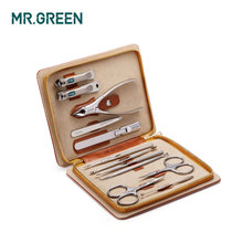 Mr. Groen 12 In1 Manicure Set Roestvrij Cuticle Utility Manicure Set Gereedschap Nail Clipper Grooming Kit Nail Care Set Nagelknipper