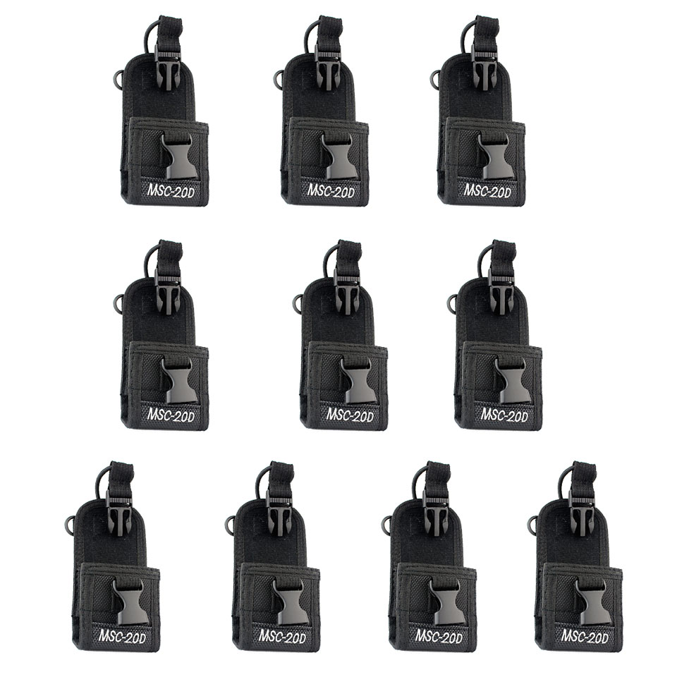 10pcs Black MSC-20D Radio Case Holder For Retevis H777 Baofeng 888S Kenwood Motorola Two Way Radios J4001A