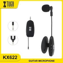 XTUGA KX622 UHF micrófono de instrumento inalámbrico condensador micrófono Clip Mic cuello de cisne para instrumento de cuerda, para guitarra