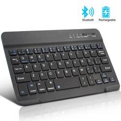 Мини Bluetooth клавиатура беспроводная клавиатура для iPad Apple Mac планшет клавиатура для телефона универсальная Поддержка IOS Android Windows