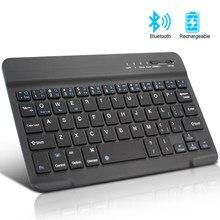 Teclado Bluetooth Mini teclado inalámbrico para iPad Apple tableta Mac teclado para teléfono Universal soporte IOS Android Windows