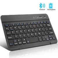 Mini teclado bluetooth teclado sem fio para ipad apple mac tablet teclado para telefone suporte universal ios android windows