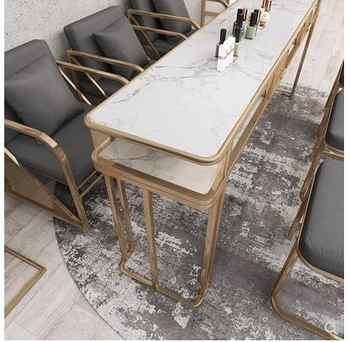 New nail table and chair set single and double nail table set online celebrity marble nail table manicure table