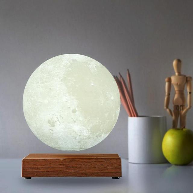 Lévitation magnétique LED contrôle tactile lune nuit lampe créative impression 3D éclairage décoratif saint valentin cadeau danniversaire