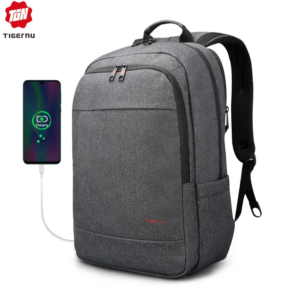 Tigernu Anti Theft USB Charging 15.6inch Men Laptop Backpack For Women Fashion Travel Mochila Male School Bag Casual Laptop Bag