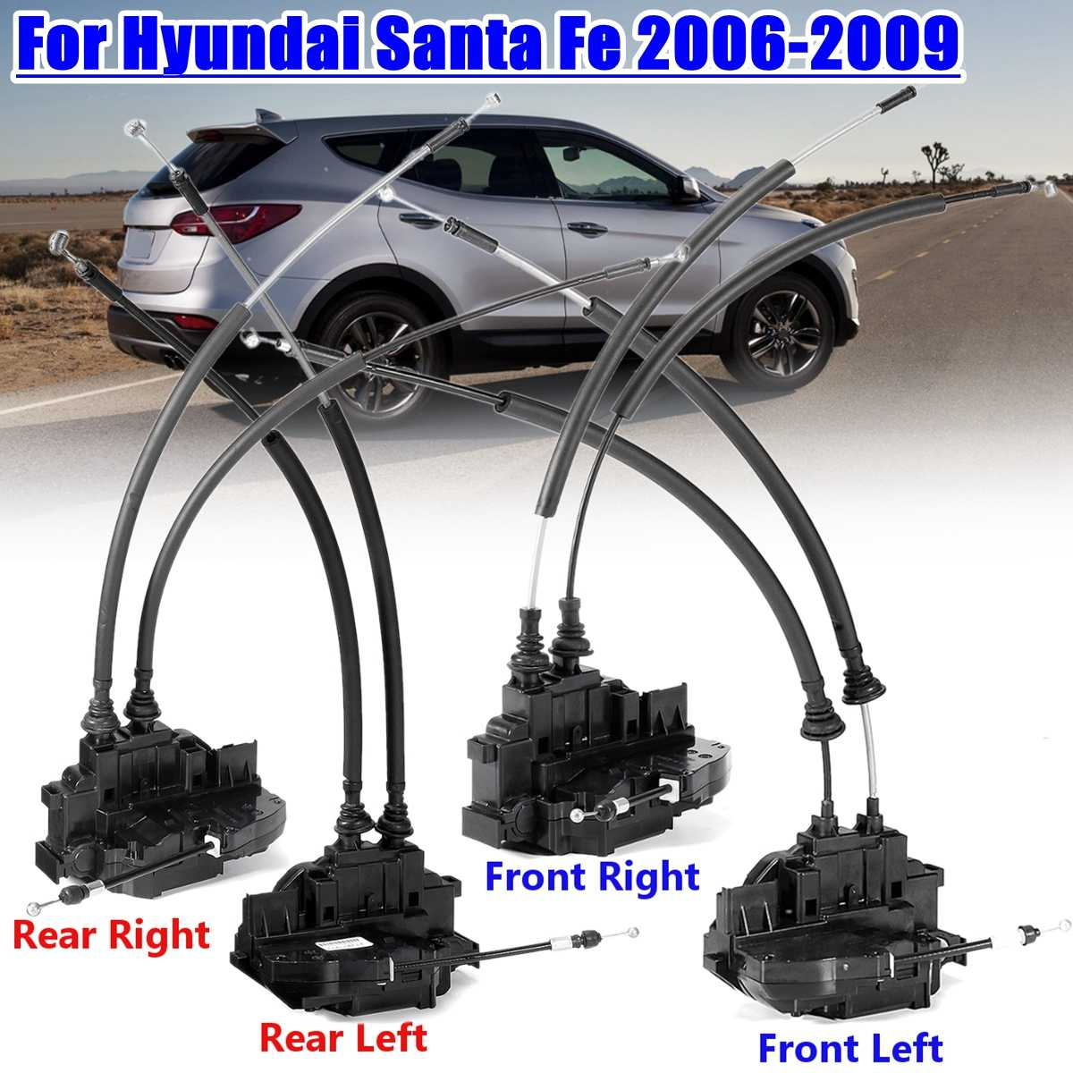 1 Pcs Front And Rear Left Right Side Power Door Lock Actuator For Hyundai Santa Fe 2006 2009 813202b010 81420 2b000 81410 2b000 Aliexpress