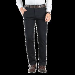 Image 5 - Большие размеры 40, 42, 44, зимние мужские теплые повседневные штаны, высокое качество, хаки, 97.5% хлопок, обычные Стрейчевые плотные брюки, мужские брендовые
