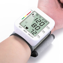 Automatic Wrist Blood Pressure Monitor Digital Tonometer Pressure Meter MedicalSphygmomanometer Pulse Heart Beat Rate Meter