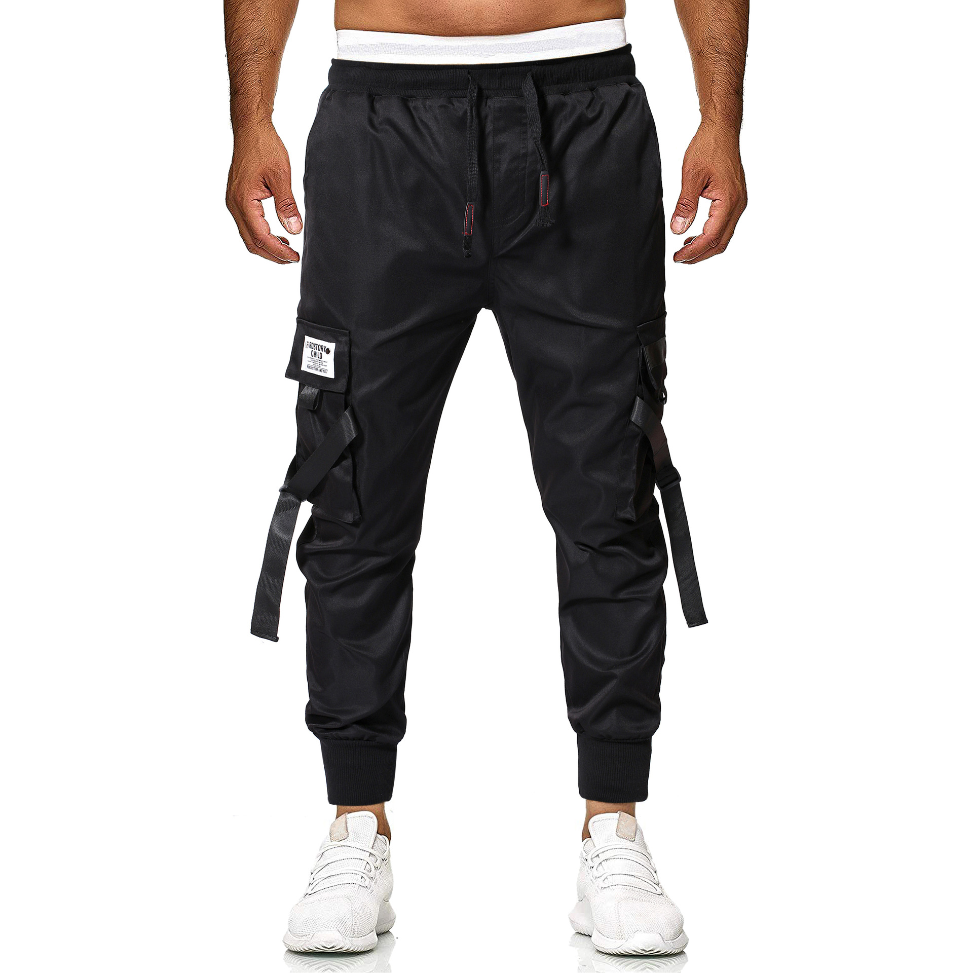 Men Casual Multi-pockets Cargo Trousers Special Forces Bib Overall Men Harem Beam Leg Trousers