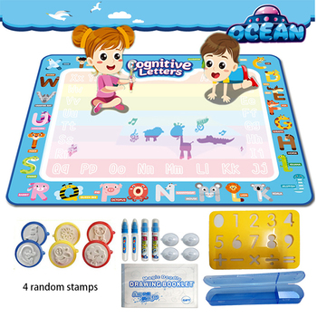 Magic Draw Board Water Drawing Mat Doodle Toys Color Pain Kid Children Book Set Educational Girl Toy Pen Brush Roller Pad Stamp kid water drawing mat doodle board
