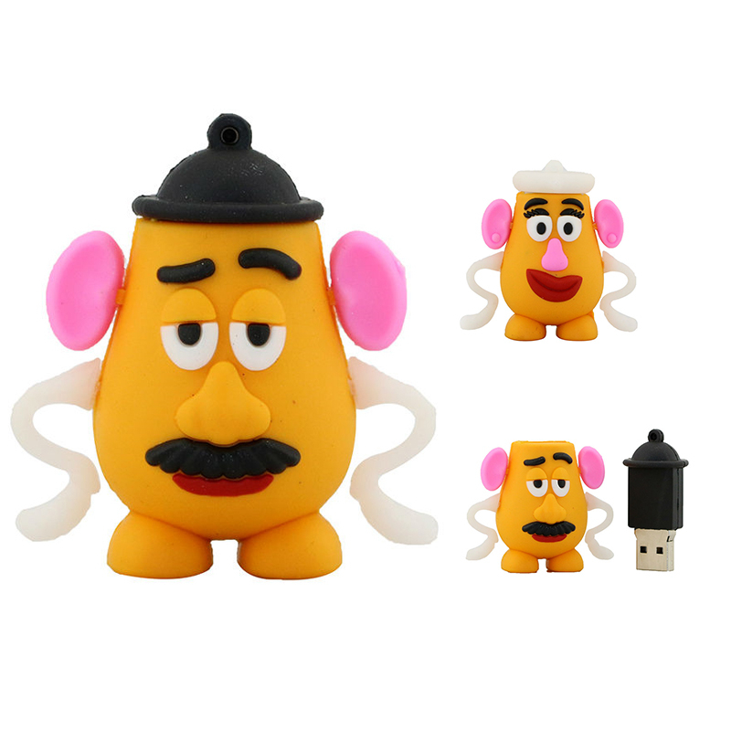 Cartoon Toy Story Potato Head Pendrive 64GB 32GB 16GB 8GB 4GB 256GB 128GB USB Flash Drive Usb2.0 Cute Mini Gift Memory Stick