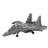 1122Pcs MOC Small Particle Modern Military Fighter Building Kit Construction Toy Block Assembly Toys For Children Gifts