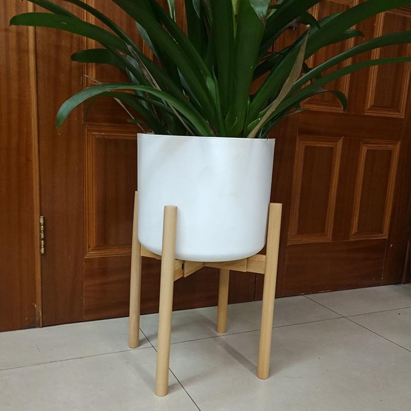 Adjustable Stand Holder Rack Wooden Sturdy For Flower Potted Indoor Outdoor S7