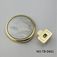 (10pcs/1lot) New Luggage Handbag Hardware Accessories High grade Handbag Metal Alloy Round Diy Press Lock