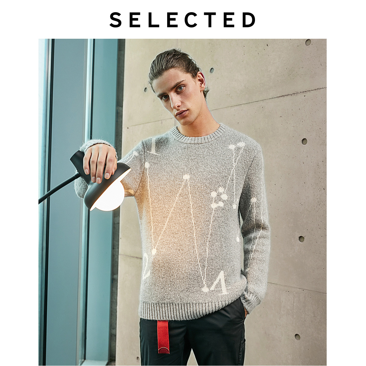 SELECTED Men's Autumn Figures & Lines Casual Knit LAB 419424529