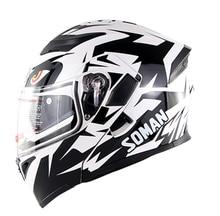 Fullface Helmet Black White Motocross Capacetes Flip Up Casco Jet Moto Shrak Casco Abatible Moto Kaski Motocyklowe Casco Helmets