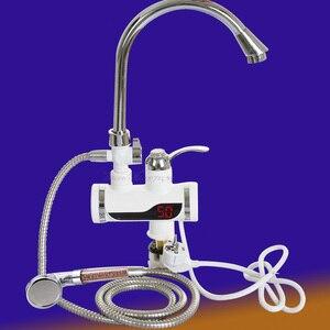 Image 5 - Grifo eléctrico sin depósito con pantalla de temperatura grifo de agua caliente instantáneo, cocina, calentador de agua, calefacción de agua, 3000w