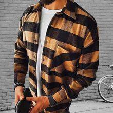 2021 moda masculina primavera xadrez casual flanela cardigan camisas de manga longa conforto macio fino ajuste estilos jaqueta