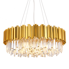 crystal chandelier gold 220V vintage chandelier Living Room lustres de cristal modern home decoration  Indoor Lamp недорго, оригинальная цена