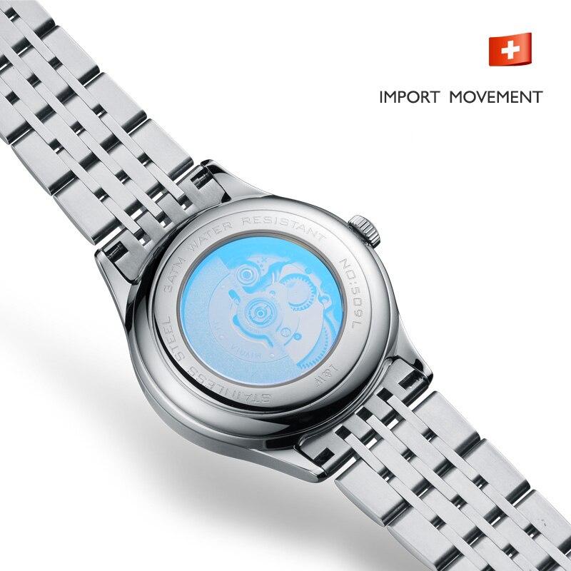 2020 Switzerland CARNIVAL Top Brand Luxury Fashion Sapphire Automatic Mechanical Women Watch Waterproof Sport Watch Montre Homme 4