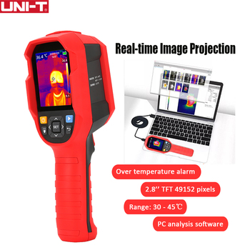 UNI-T Infrared Thermal Imager Thermometer Imaging Camera 30℃ ~ 45℃ Temperature Tester with PC Software Analysis Type-C USB цена 2017