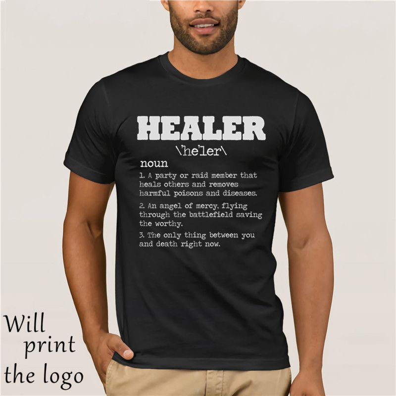Healer RPG Gamer T Shirt - Video Game MMORPG PC Gamer WoW Horde Alliance Rogue Fashion Unique Classic Cotton Men T-Shirt image