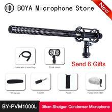цена на BOYA BY-PVM1000L Handheld Shotgun Microphone 38cm Cardioid Condenser Mic 6.35mm for Canon Nikon Sony Video DSLR Camera Camcorder
