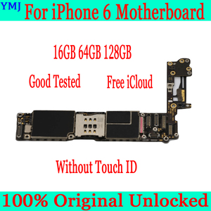 Image 2 - עבור iphone 6 4.7 אינץ האם עם מגע מזהה, 100% מקורי סמארטפון עבור iphone 6 mainboard + מלא שבבים, 16GB 64GB 128GB