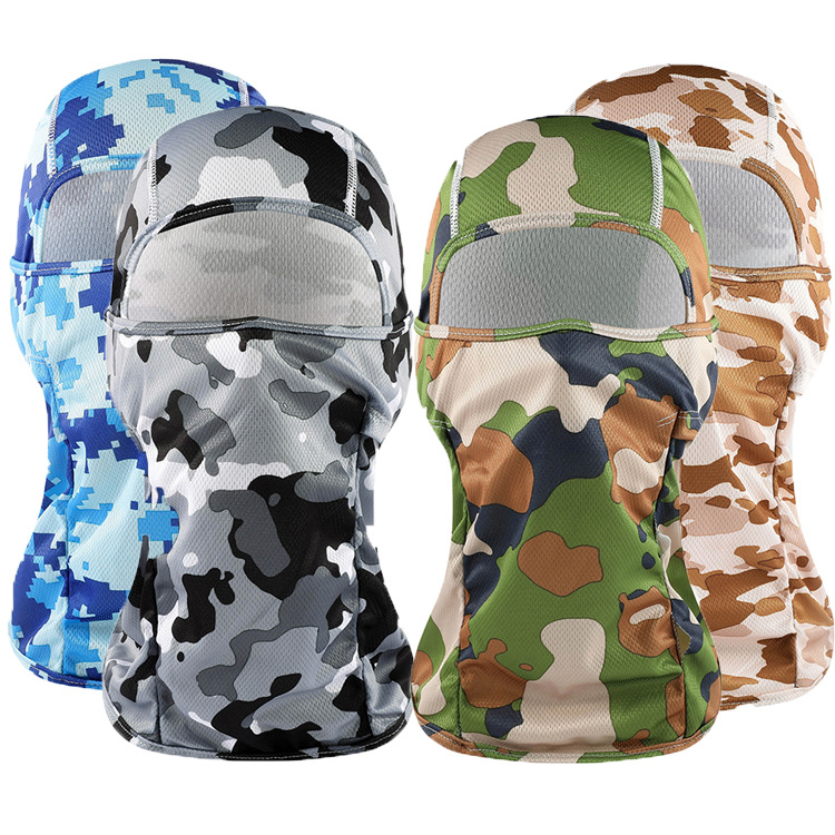 1pc Summer Cool Mouth Face Mask Camouflage Solid Balaclava Mask Unisex Mask Fashion Outdoor Sunshine Avoider Face Mouth Cover