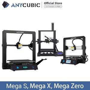 Image 1 - ANYCUBIC I3 Mega /S/X/sıfır 3D yazıcı tam Metal artı boyutu masaüstü çerçeve Impresora 3D Drucker DIY kiti Gadget ekstruder