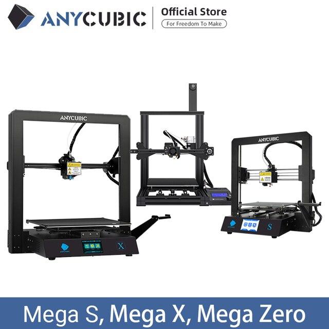 ANYCUBIC I3 Mega /S/X/sıfır 3D yazıcı tam Metal artı boyutu masaüstü çerçeve Impresora 3D Drucker DIY kiti Gadget ekstruder