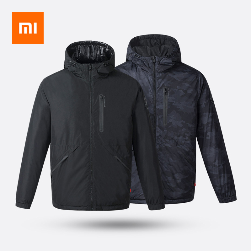 Xiaomi ULEEMARK Smart Fever Double-sided Wear 3.0 Men's Goose Down Jacket Intelligent Temperature Control 3-level Adjustable