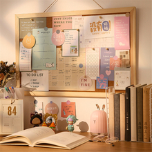 Cork-Board Postcard Office-Stationery Wooden Photo Message Hanging Memo-Paper Pushpin