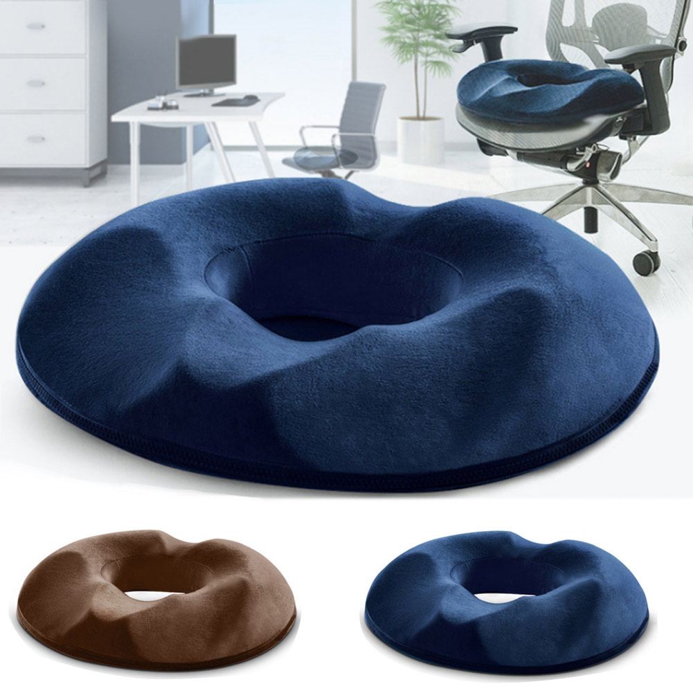 Hot Donut Cushion Mat Memory Foam Pillows Non-Slip Pain Back Relief Cushion Pregnancy Bed Sores Wedge Sleeping Knee Pillow A7 image
