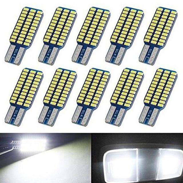 5x 자동차 LED T10 192 194 168 W5W LED 전구 33 SMD 3014 테일 라이트 돔 램프 화이트 DC 12V Canbus 오류 무료 자동차 액세서리