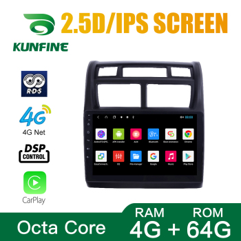 Octa Core 1024*600 Android 10.0 Car DVD GPS Navigation Player Deckless Car Stereo For KIA Sportage 2007-2010 AT MT Radio image