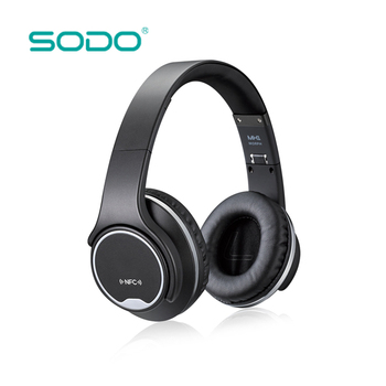 SODO NFC Wireless Bluetooth Headphone Twist-out Speaker wireless External headphone with microphone Foldable Bluetooth Headset