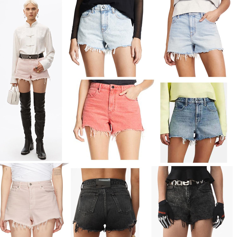 2020 Spring Summer Raw Edge Irregular Denim Shorts Women's Casual Denim Hot Pants  A2