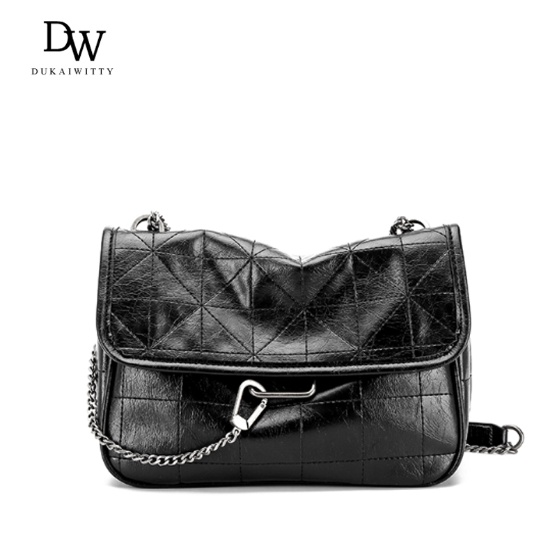 DUKAIWITTY Crossbody Bags For Women 2020 New Designer Chain Shoulder Messenger Bag Lady Small Handbags Black Crossbody Bags