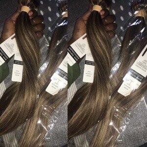 Image 4 - BEAUDIVA שיער ברזילאי ישר שיער חבילות P4 27 צבע ברזילאי שיער Weave חבילות 3/4PCS רמי שיער טבעי חבילות 95 גרם\יחידה