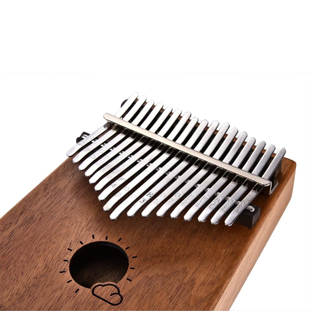 17-chave mogno kalimba mbira polegar piano +
