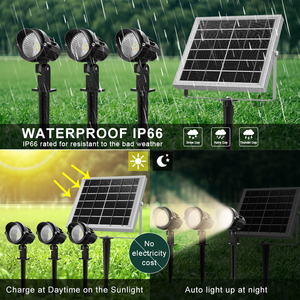 Image 3 - 3 in 1 Outdoor LED Solar Light IP66 Waterproof Solar Powered LED Lamp Outdoor Flood Light For Garden Patio Landscape Lawn