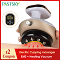 Electric Cupping massage LCD Display Guasha Scraping EMS Body massager Vacuum Cans Suction Cup IR Heating Fat Burner Slimming