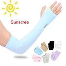Long Gloves Sun UV Protection Hand men women Protector Cover Arm Ice Silk Sunscreen Beach Sleeves Outdoor Half Finger