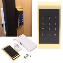 Elektronicznych klawiatura dotykowa blokada hasła dostęp do kluczy bezpieczeństwo cyfrowe alarm domowy Anti theft szafa na dokumenty zamek szyfrowy